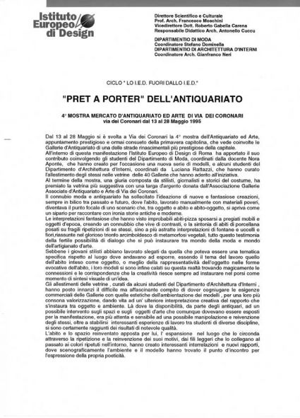 """Pret a Porter"" dell'antiquariato -"