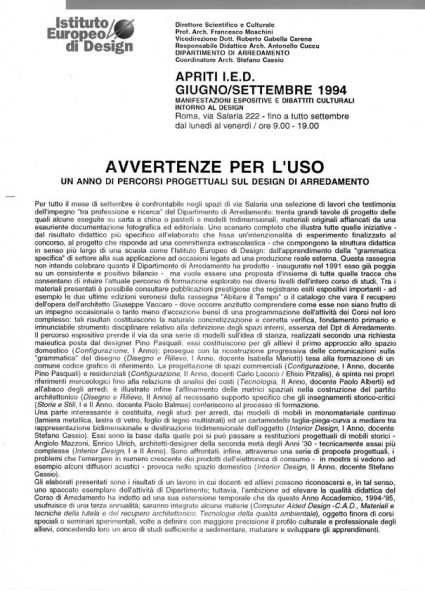 Avvertenze per l'uso -