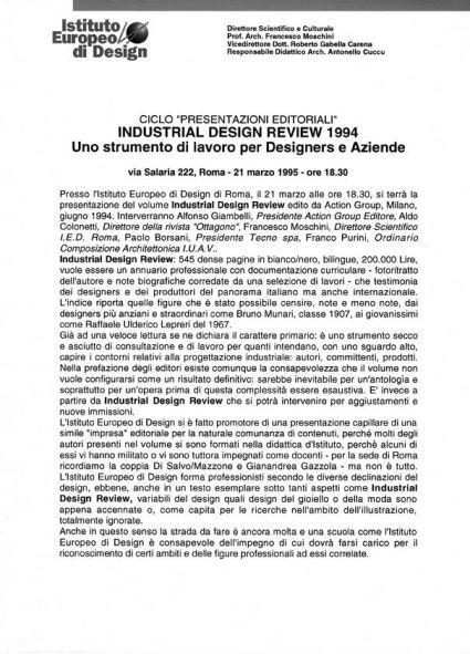 I e d istituto europeo di design roma attivit for Aziende di design