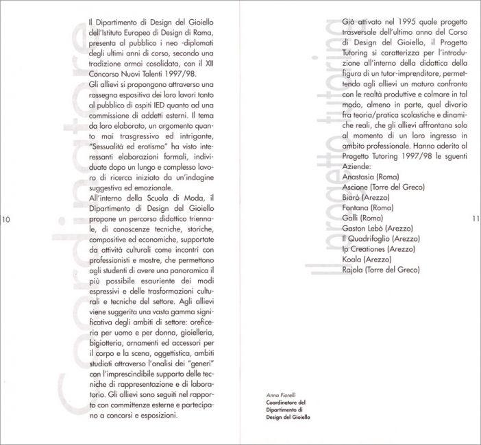 I e d istituto europeo di design roma attivit for Corso di design del gioiello