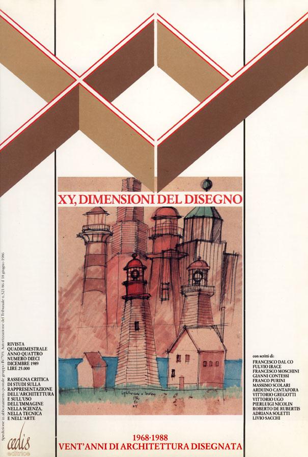 Pubblicazioni xy dimensioni del disegno 1968 1988 for Architettura disegnata