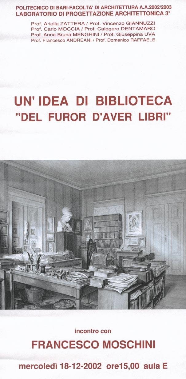 Conferenze un 39 idea di biblioteca del furor d 39 aver for Politecnico biblioteca