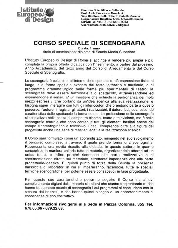 I e d istituto europeo di design roma attivit didattiche i e d roma corso speciale di - Corso di design roma ...