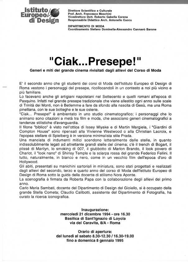 I e d istituto europeo di design roma attivit didattiche i e d roma ciak presepe - Corso di design roma ...